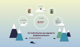 Ny kulturkamp og engasjerte forfatterstemmer