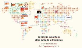 La langue minoritaire et les défis de la traduction