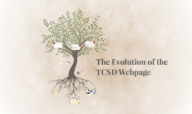 The Evolution of the TCSD Webpage