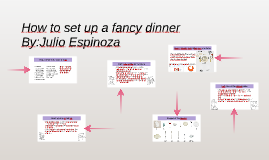 How to set up a fancy dinner