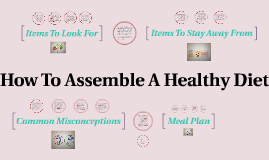 How To Assemble A Healthy Diet