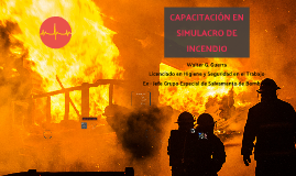 Capacitación en simulacro de incendio