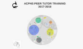 ACPHS PEER TUTOR TRAINING 2017-2018