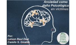 Ansiedad como daño Psicológico