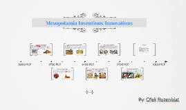 Copy of Mesopotamia Inventions/Innovations