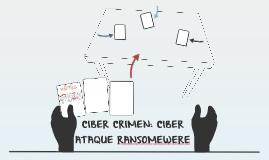 CIBER CRIMEN: CIBER ATAQUE RANSOMEWERE