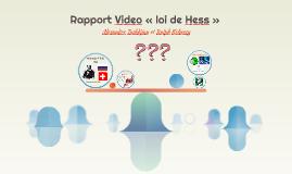 Rapport Video « loi de Hess »