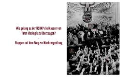 Wie gelang es der NSDAP die Massen von ihrer Ideologie zu üb