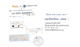 Le Défi Solidaire  par Babyloan.org