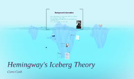 hemingway s iceberg theory by ciara cook on prezi