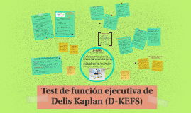 Test de función ejecutiva de Delis Kaplan (D-KEFS)