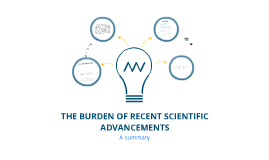The Burden of Recent Scientific and Technological Advancements