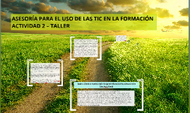 ASESORÍA PARA EL USO DE LAS TIC EN LA FORMACIÓN
