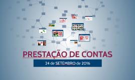 PRESTAÇÃO DE CONTAS - 24 de SETEMBRO de 2016