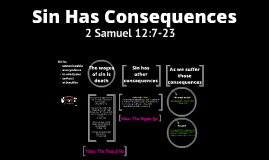 Sin Has Consequences