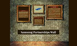 Samsung Partnerships Wall