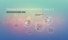 Panona kreativni inkubator 2014 2/3