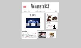 Welcome to MSA 12/9
