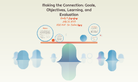 Making the Connection: Goals, Objectives, Learning, and Eval