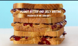 Peanut Butter and Jelly Writing