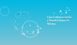 Caso Cabrara García y Montiel Flores Vs. México