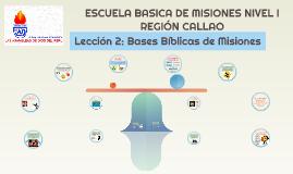 BASES BIBLICAS DE MISIONES