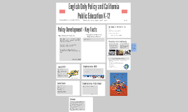 English Only Policy and California Public Education K-12