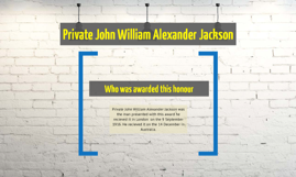 Private John William Alexander Jackson