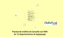 Proceso de análisis de Consulta con NNA de 10 departamentos