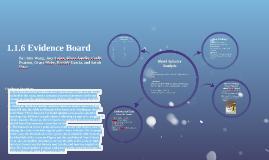 1.1.6 Evidence Board