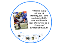 ''I Hated Every minute of training,but I said don't quit. Su