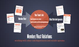 Member/Host Relations