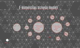 E-komercijas biznesa modeļi