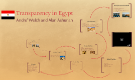 Transparency in Egypt