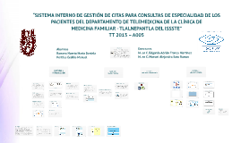 """""""SISTEMA INTERNO DE GESTIÓN DE CITAS PARA CONSULTAS DE ESPEC"""