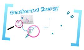 renewable resources, Goethermal energy