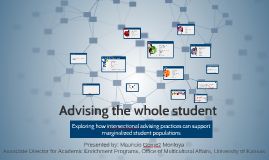 Advising the whole student