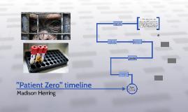 """""""Patient Zero"""" timeline"""