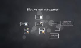 Copy of Effective team management