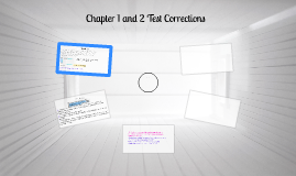 Chapter 1 and 2 Test Corrections