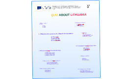 QUIZ ABOUT LITHUANIA