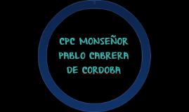 CPC MONSEÑOR PABLO CABRERA - CORDOBA