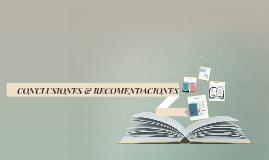 CONCLUSIONES & RECOMENDACIONES
