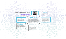 5. You Shall Not Kill