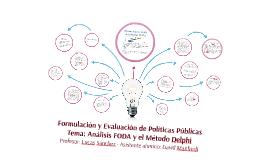 Formulación y Evaluación de Políticas Públicas