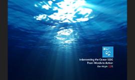 Implementing the Ocean SDG