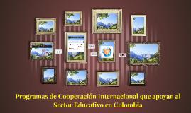 Programas de Cooperación Internacional que apoyan al Sector