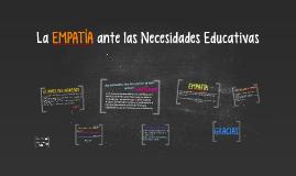 La EMPATÍA ante las Necesidades Educativas