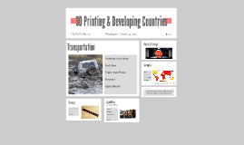 3D Printing & Developing Countries