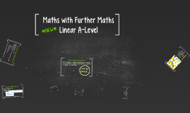 *NEW* Linear A-Level Maths with Further Maths